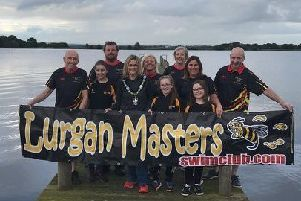 Members of Lurgan Masters Swim Club who have organised Swim for Oran to raise money for the Children's Heartbeat Trust