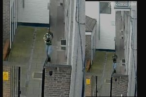 CCTV at Hastings House in Stamshaw showing a man running shortly after the stabbing - this was shown to the jury last week