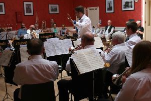 The band entertained the visitors during the day