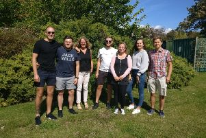 Seven of the eight walkers from the Steyning office of TC Group, formerly Russell New