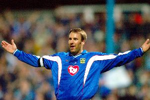 Paul Merson netted for Pompey in the 4-2 win at Brighton