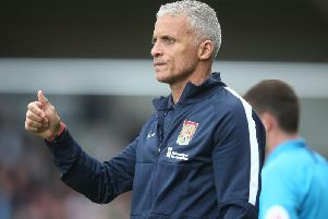 Keith Curle had plenty to smile about after Saturday's win. Picture: Pete Norton