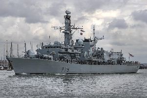 HMS Kent, a Type 23 frigate, left Portsmouth for the Gulf last month. Picture: Dan Kitwood/Getty Images