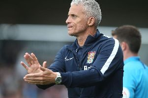 Keith Curle hailed supporters for the 'massive' part they played in Saturday's win. Picture: Pete Norton