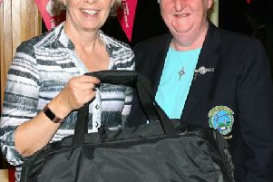 Past Captains Barbara Fleet with Lady Captain Anne McShane