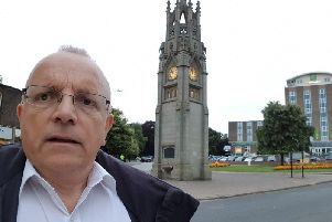Councillor Richard Dickson in front of the Kenilworth Clock Tower