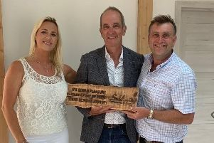 Paul and Amy Wilkinson, of Old Leake, with Grand Designs' Kevin McCloud