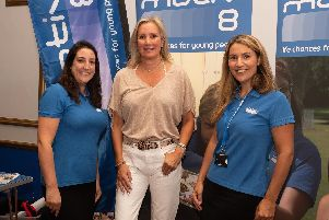Pictured is: Kirsty Robertson, Caroline Dinenage MP and Claire Ansell from Motiv8. Picture: Keith Woodland (070919-7)
