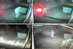 Criminals wearing white overalls with their faces masked doused a cash machine in petrol at the Welcome store in Cuckoo Lane in Stubbington at around 1.40am on September 9 before failing to blow it out of the wall. They then attacked it with a crowbar for 15 minutes but failed to get away with the machine.