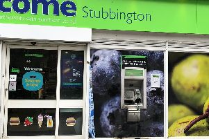 A Welcome store was closed in Cuckoo Lane, Stubbington, on Monday, September 9 after damage was done its cash machine overnight. Picture: Richard Lemmer
