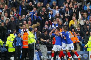 Joel Ward netted in the 1-1 December 2011 draw between Pompey and Southampton - the last time the rivals met at Fratton Park. Picture: PA Wire/Press Association Images