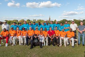 The St Lucia Tourism Minister's XI (in orange) and the British Buccanners at Horsham on Sunday. All pictures courtesy of the St Lucia Tourism Authority