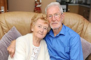Gloria Philpott and her husband Ray, from Southsea, celebrated their Diamond Wedding Anniversary on Thursday, September 5. Picture: Sarah Standing (060919-5161)