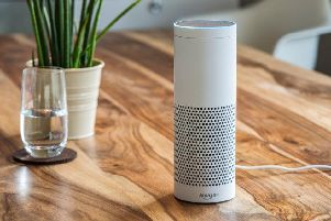 The Amazon Alexa. Zella will not have voice recognition devices in the house...