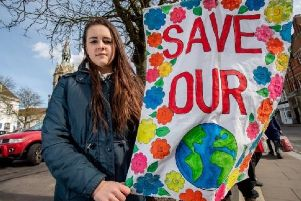 Holly Pavey (12) has been leading the local climate protests.