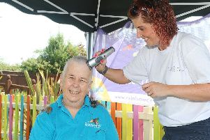 Veronica Gaoua kept her hair during cancer treatment, but decided to shave it all off to raise some money for the centre.