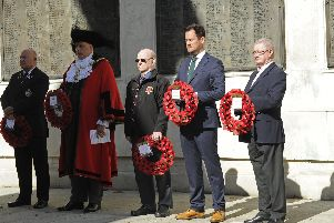The Pompey Pals charity has held it's fourth annual commemoration in Guildhall Square including a remembrance service at the Cenotaph. Picture: Ian Hargreaves  (140919-6)