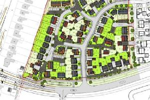 An overhead plan of the housing develpment