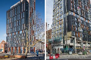 Stanhope House in Portsmouth - what it is supposed to look like, and how it was last week