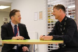 Councillor Daniel Humphreys meets the CEO of Greater Brighton Metropolitan College, Nick Juba