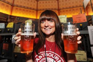 Eastbourne Beer festval at Winter Garden 8/10/16 (Photo by Jon Rigby) SUS-190920-115127001