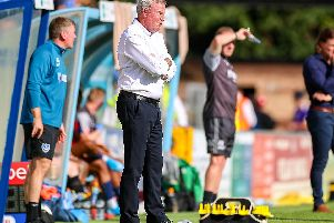 Pressure is mounting on Portsmouth manager Kenny Jackett, pictured here during the EFL Sky Bet League 1 match between Wycombe Wanderers and Portsmouth at Adams Park, High Wycombe, England on Saturday. Picture: Pro Sports Images Ltd