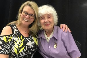 Marie Ridley with Betty Richards of Fareham Musical Society, who have both played the role of Bloody Mary in South Pacific, 33 years apart.