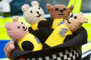 Some of the knitted 'Bobby Buddies' being handed out by Hampshire Police. Picture: Hampshire Police