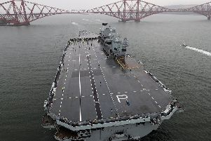 HMS Prince of Wales sets sail for initial sea trials. Picture: LPhot Robert Oates