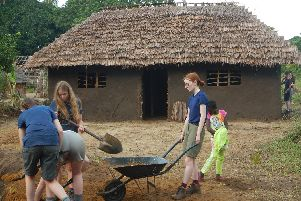 Year 11 pupils from Mayville High School get to work on helping to rebuild a school in Kenya.