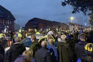 Police ran their 'biggest ever football operation' in Hampshire on September 24 as Pompey played Southampton at Fratton Park for the third round of the Carabao Cup.''Pictured is: Police before the match where the Blues lost 4-0.''Picture: Ben Fishwick (240919-9824)
