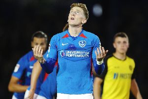 Pompey winger Ronan Curtis  Picture: Joe Pepler