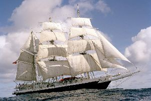 The Lord Nelson, which will dock in Portsmouth after its penultimate voyage.