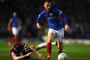Tom Naylor breaks past Pierre-Emile Hojbjerg against Southampton. Picture: Dan Istitene/Getty Images