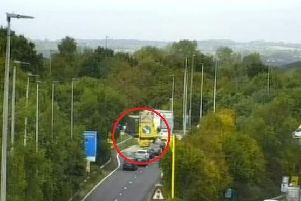 Broken down lorry on M27