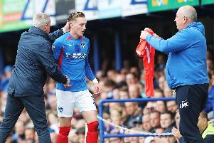Ronan Curtis was substituted during today's win over Bolton. Picture: Joe Pepler
