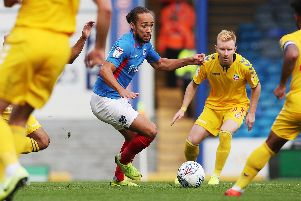 Marcus Harness lifted Pompey after introduced at half-time in Saturday's 1-0 victory over Bolton. Picture: Joe Pepler