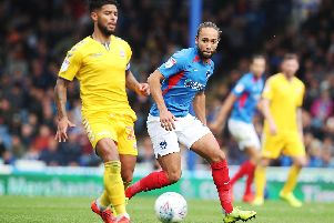 Marcus Harness made his Pompey comeback as a second-half substitute against Bolton on Saturday