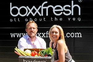 25/6/2018 (KB)''Jon Barfoot (41) and his wife Kelly Barfoot (42) run Boxxfresh a vegetable delivery service based in Titchfield, and have also invented and marketed the first bread made entirely of vegetables. ''Picture: Sarah Standing (180534-922)