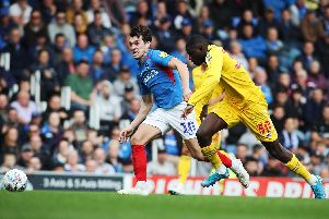 John Marquis in action against Bolton. Picture: Joe Pepler