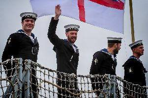 A new website has been set up to help loved ones of those in the military to find a job.'Pictured is the homecoming of HMS Argyll. Photo: Royal Navy.