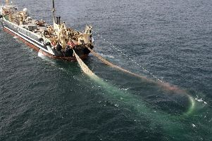 The Lithuanian supertrawler Margiris. Picture: Greenpeace/PA Wire