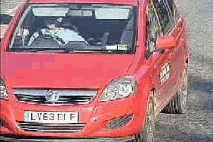 CCTV showing a Vauxhall Zafira car belonging to Ben Lacomba, 39, who is accused of murdering mother-of-five Sarah Wellgreen, as the jury in his trial have visited the home where it is alleged she spent her last moments alive. Picture: Kent Police/PA Wire