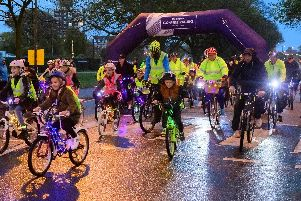 Riders set off at last year's Portsmouth Glow Ride. Photo: Keith Woodland