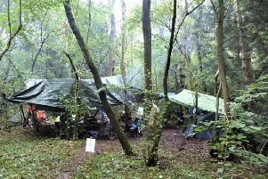 The Stop HS2 camp in South Cubbington Wood