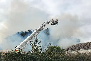 Fire crews in action