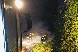 Fire crews from Droxford Fire Station were called to deal with a Vauxhall Astra which was on fire in Hambledon.