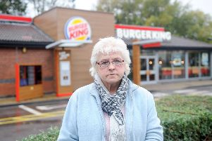 Susan Simms, 64, from Bedhampton, has been banned from Burger King in Park Road South, Havant, pictured, after a row about ice cream portions. Picture: Sarah Standing (071019-8460)