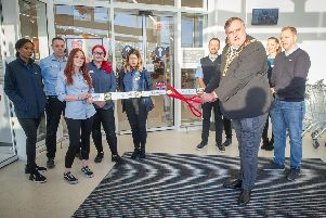 Lord Mayor of Portsmouth David Fuller with staff marking the opening of the new store in Ocean Retail Park.'Picture: Habibur Rahman