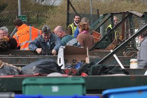 Householders dumping waste at the Paulsgrove Recycling Centre at Port Solent. Picture:Steve Reid